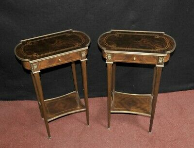Pair Empire Side Tables In Kingwood Nightstands French Furniture
