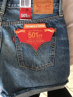 d8b52def LEVI'S 501 CT SHORTS size 27 Womens Customized & Tapered - $18.50 ...