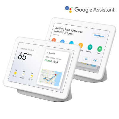 Chalk Google Home Hub Smart Display Assistant 2-Pack Wi-Fi Stream Voice or Touch