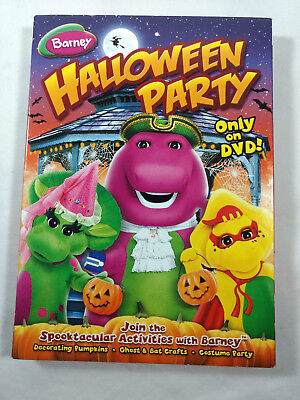 Barney Halloween Party Only On DVD - Disc is MINT with Slip Cover Dust Sleeve