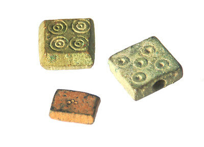 Lot of 3 Islamic Weights 0.5, 1, 2 Dircham 8-10 cent AD