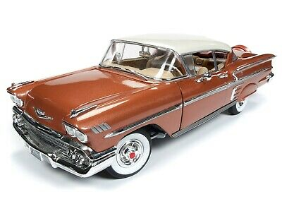 2019 1:18 AUTO WORLD AMERICAN MUSCLE *GOLD* 1958 Chevrolet Bel Air IMPALA NIB!