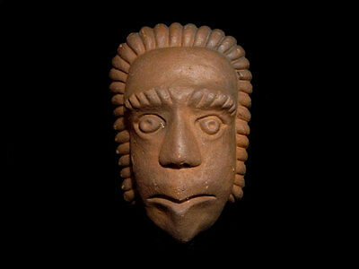 Beautiful Terracotta Post Mortem Mask Of A Roman Patrician, Replica!!!