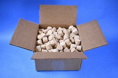 144 Premium Tapered Natural Cork Stoppers Lab AR Brand New