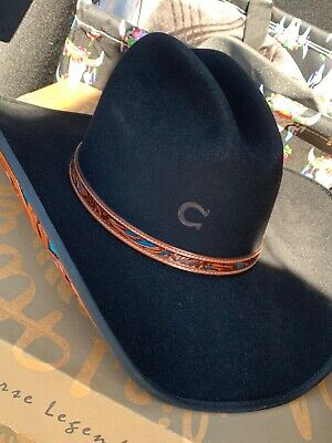 a24ca449602 CHARLIE 1 HORSE Black Felt Hat Size 7 1 8 -  150.00
