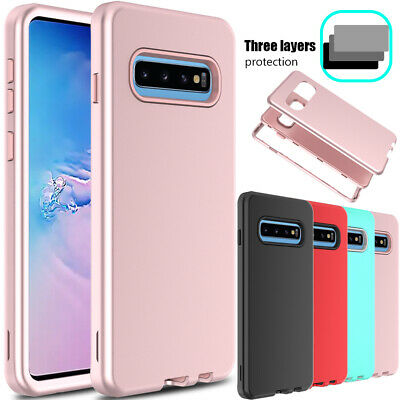 For Samsung Galaxy S10 Plus Phone Case Shockproof Hybrid Rugged Armor Full Cover