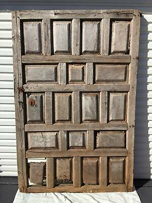 ANTIQUE DOOR 18th/19th CENTURY - 200 YEAR OLD TIMBER DOOR FROM SPANISH PYRENEES