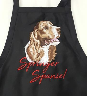Springer Spaniel Dog BBQ, Chef, Work Embroidered Apron
