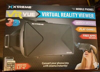 "Xtreme VR VUE 360° Virtual Reality Viewer New size 3.5"" - 6""  for Mobile Phones"
