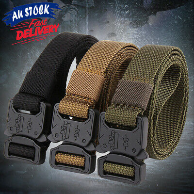 Army Belt Heavy Quick-Release Duty Military Buckle Rigger Outdoor Tactical Metal