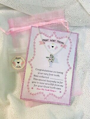 Tooth Fairy First Lost Tooth Pendant Award