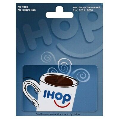 $25 / $30 IHOP Physical Gift Card - FREE 1st Class Mail Delivery - Sealed