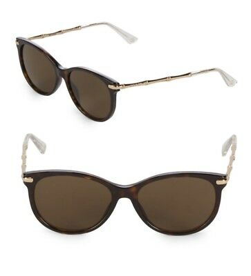85547d02da4 Gucci Women S Oval Sunglasses With Brown Lenses And Gold Bamboo Frame