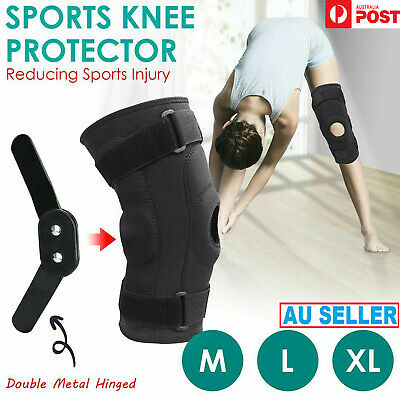 Latest Double Metal Dual Hinged Full Knee Strong Support Brace Knee Protector AU