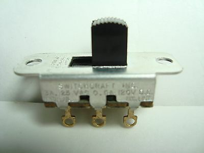 NOS NEW ORIGINAL Old Style Switchcraft Slide Switch On-On DPDT Gold Contacts