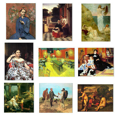 Classical Oil Painting Canvas Poster Wall Hanging Picture Home Decor Unframed