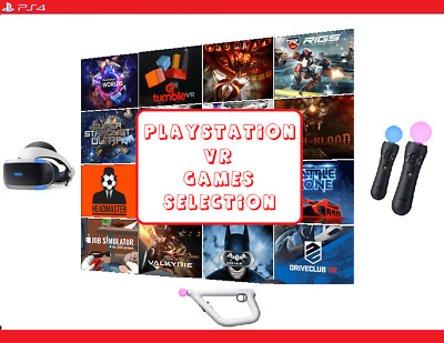 Playstation VR - PSVR Games + WARRANTY **Pick From Your Favourite TITLES**