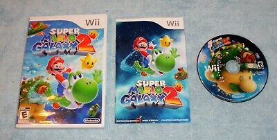 Super Mario Galaxy 2 (Nintendo Wii, 2010) COMPLETE, TESTED WITH FREE SHIPPING