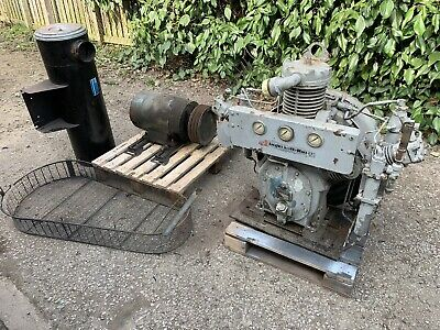 Ingersoll Rand Type 30 Compressor. 70 Bar High Pressure. Engine starting