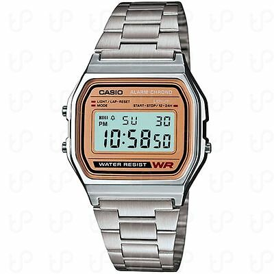 Casio A158WEA-9, 7 Yr Battery, Chronograph, Silvertone Watch, Alarm