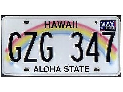 Flexible Fridge Magnet PhotosOf a  Minnie   HAWAII License Plate