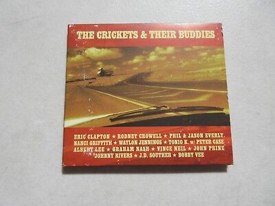 The Crickets & Their Buddies Music Cd Clapton Crowell Everly Jennings Nash Prine