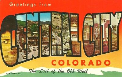 Central City, CO / Large Letter Greetings / Colorado / circa 1970 / Lot T109