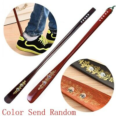 Flexible Long Handle Shoehorn Shoe Horn AID Stick Wooden 55cm/21.5''