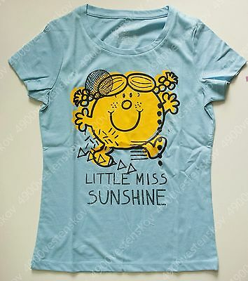 Baleno Mr. Men & Little Miss Sunshine Woman Blue Short Sleeve Tee T-shirt