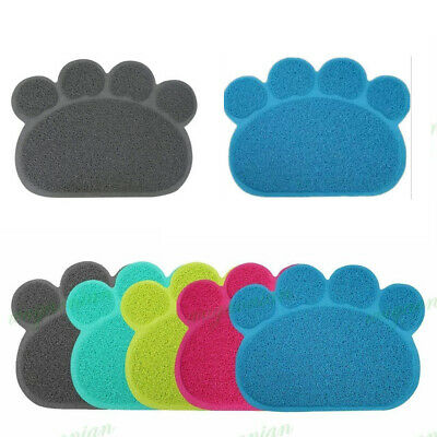 Pet Dog Puppy Cat Feeding Paw Mat Pad Cute PVC Bed Dish Bowl Food Feed Placement