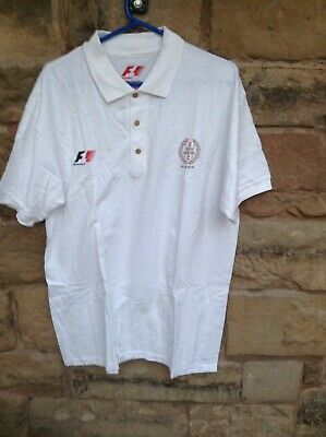 Brand New With Tags Formula 1 2017 Polo Shirt British Grand Prix White Large