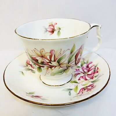 Royal Albert Sonnet Series Chaucer Cup And Saucer Footed Beautiful!