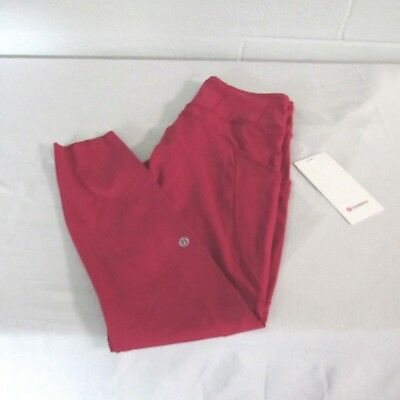 39f3fa2cbd0b41 Lululemon Fast Free 7/8 Tight II Nylon Lycra Tights Yoga Pant Ruby Red 10