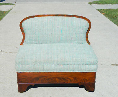 Mahogany Empire  Bustle Bench  Fire Side Sofa~~Childs~~Salemans Sample??