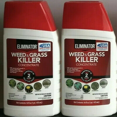 Lot Of 2 Eliminator Weed And Grass Killer Liquid Concentrate 16 Fl Oz 14 47 Picclick