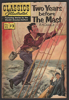 Vintage British Classics Illustrated: TWO YEARS BEFORE THE MAST No.25 HRN136 1/3