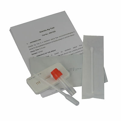 Giardia Rapid In Home Fecal Test Kit Perfect for Home or Rescue Organizations