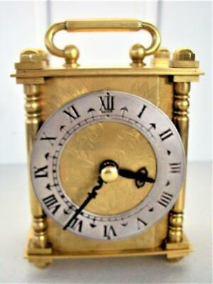 Vintage Heavy Brass Carriage Clock - Battery Movement