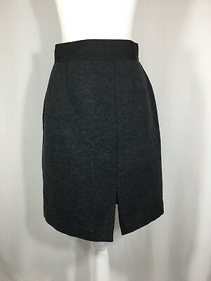 2a699d730 Gap Women's Size 6 Pencil Skirt Wool Blend Fully Lined Front Slit Gray  Career
