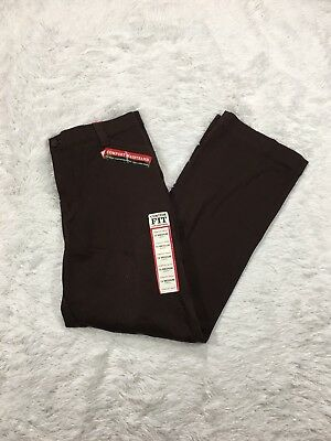 Lee Women's Size 14 Straight Leg Pants Comfort Waist Stretch Eased Fit Brown