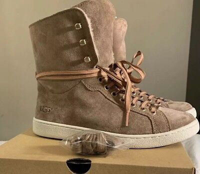 6275513e973 UGG STARLYN FAWN Sheepskin Sneaker High Top Ankle Boot Sz 10 Exclusive Color