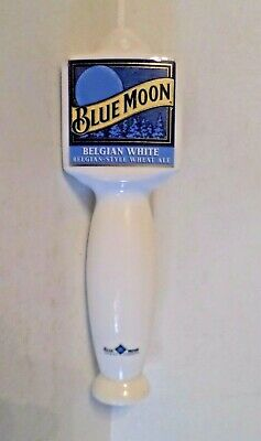 "Blue Moon Belgian White Wheat Ale Denver 9.75"" Beer Tap Bar Tavern Keg Handle"