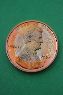Florida Toned 2002 S Lincoln Memorial Cent Proof Flat Rate Shipping TOM28