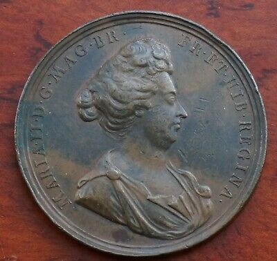 Death of Mary (William & Mary) 1694, by Roettier, bronze, 49mm. VF. (Eimer 362)