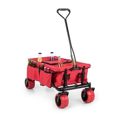 Heavy Duty Handcart Wheel Barrow Patio Garden Trolley Wagon Cooling Bag Red