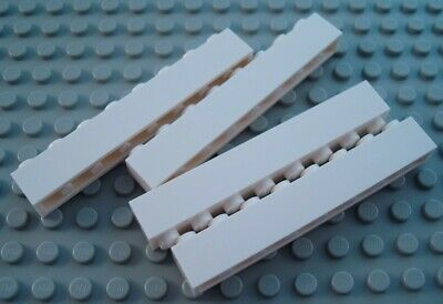 New LEGO Lot of 4 White 1x8 Basic Building Brick Pieces