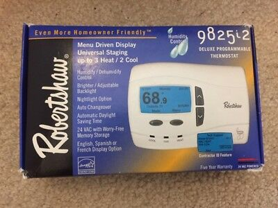 ROBERTSHAW DELUXE HEATING & COOLING THERMOSTAT T40-1143