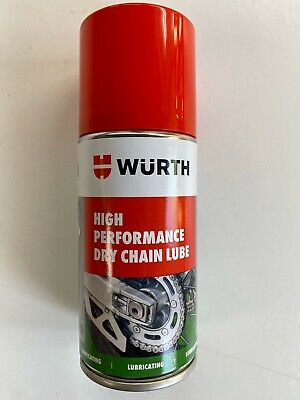 ****WURTH MOTORCYCLE/ BIKE DRY CHAIN SPRAY LUBE 1 x150ML IDEAL TRAVEL SIZE****