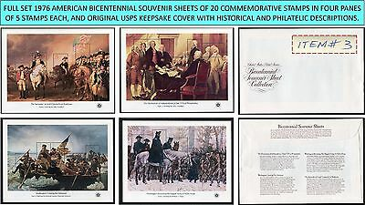 1976 full set 4 AMERICAN BICENTENNIAL SOUVENIR SHEETS Scott 1686-1689 w/cover #3