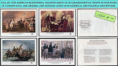 1976 full set 4 AMERICAN BICENTENNIAL SOUVENIR SHEETS Scott 1686-1689 w/cover-10